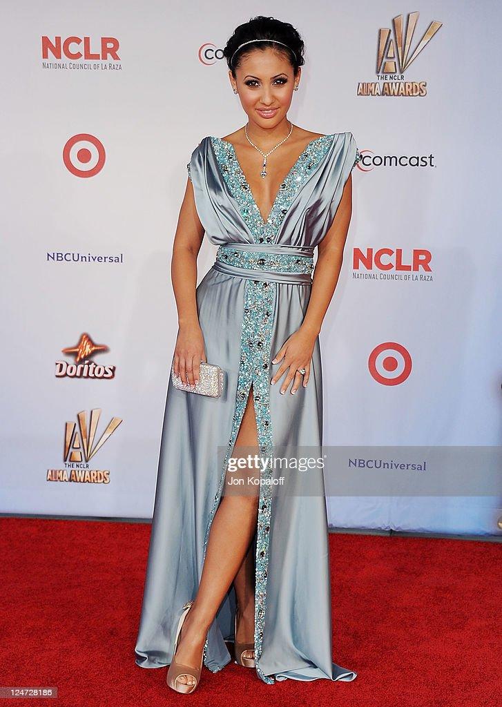 Actress Francia Raisa arrives at the 2011 NCLR ALMA Awards at Santa Monica Civic Auditorium on September 10 2011 in Santa Monica California