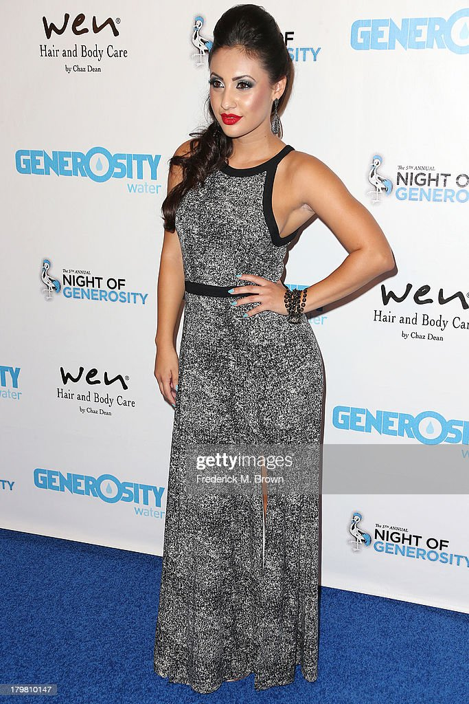 Actress Francia Raisa attends Generosity Water's 5th Annual Night of Generosity Benefit at the Beverly Hills Hotel on September 6, 2013 in Beverly Hills, California.