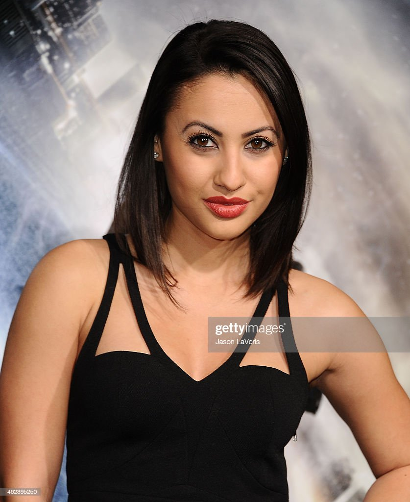 Actress Francia Raisa attends the premiere of 'Project Almanac' at TCL Chinese Theatre on January 27 2015 in Hollywood California
