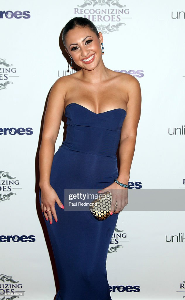 Actress <a gi-track='captionPersonalityLinkClicked' href=/galleries/search?phrase=Francia+Raisa&family=editorial&specificpeople=4441372 ng-click='$event.stopPropagation()'>Francia Raisa</a> attends 'Unlikely Heroes' Recognizing Heroes Awards Dinner and Gala at The Living Room at The W Hotel on October 19, 2013 in Los Angeles, California.