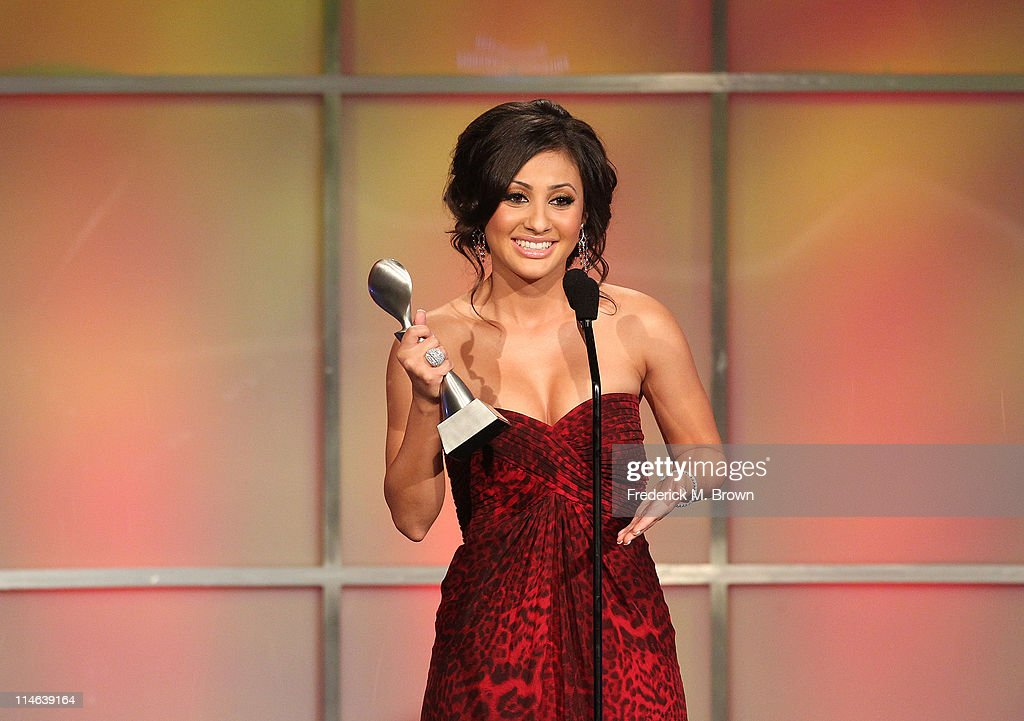 Actress Francia Raisa speaks during the 36th Annual Gracie Awards Gala at the Beverly Hilton Hotel on May 24 2011 in Beverly Hills California