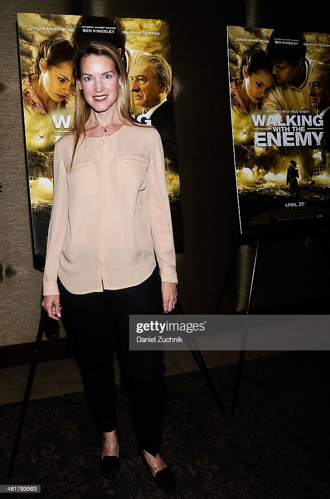 Actress Francie Swift attends the 'Walking With The Enemy' screening at Dolby 88 Theater on March 31, 2014 in New York City.