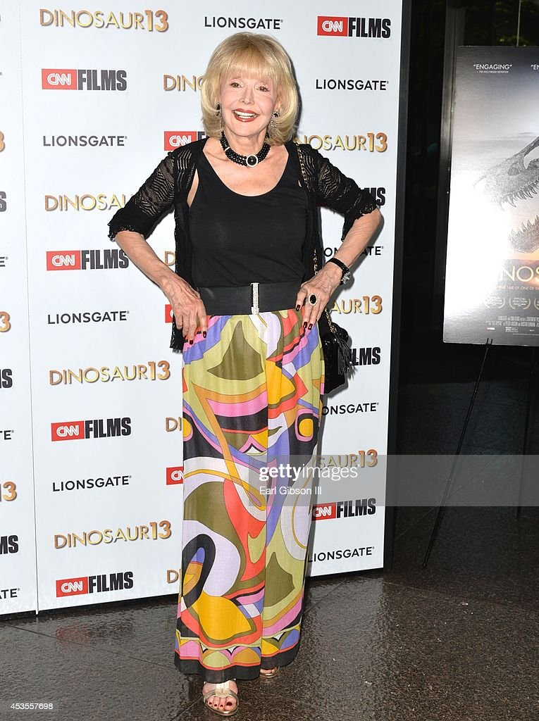 Actress Francine York attends the premiere of Lionsgate and CNN Film 'Dinosaur 13' at DGA Theater on August 12, 2014 in Los Angeles, California.