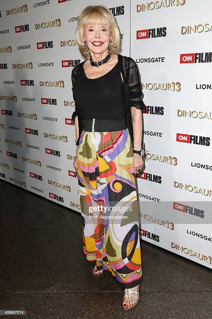 Actress Francine York attends the premiere of Lionsgate and CNN Films' 'Dinosaur 13' at DGA Theater on August 12, 2014 in Los Angeles, California.