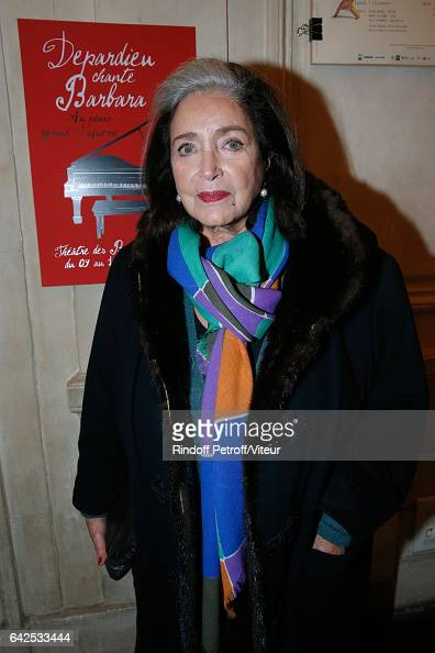 Actress Francoise Fabian attends Gerard Depardieu sings Barbara accompanied on the piano of Barbara by Gerard Daguere who was his Pianist for more...