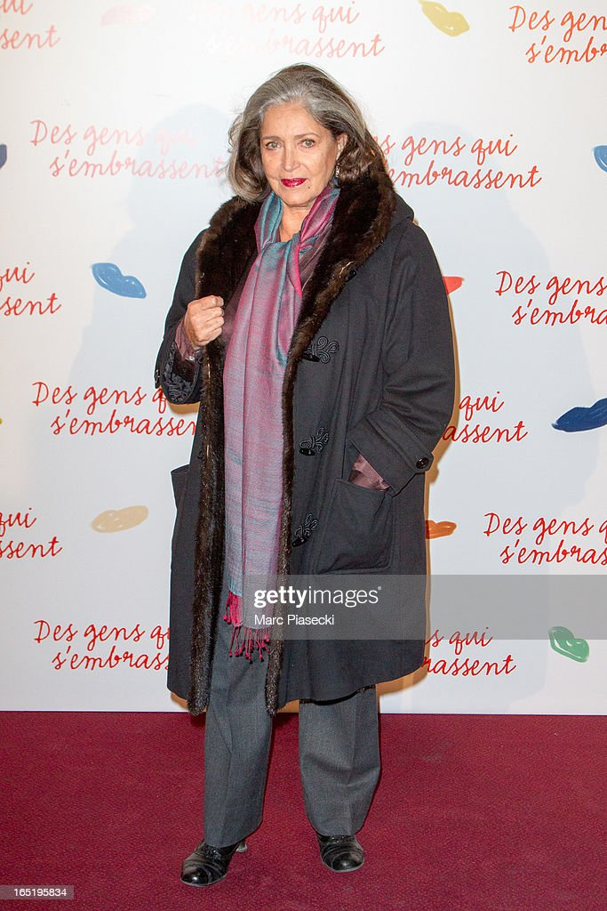 Actress Francoise Fabian attends the 'Des Gens Qui S'embrassent' Premiere at Cinema Gaumont Marignan on April 1, 2013 in Paris, France.