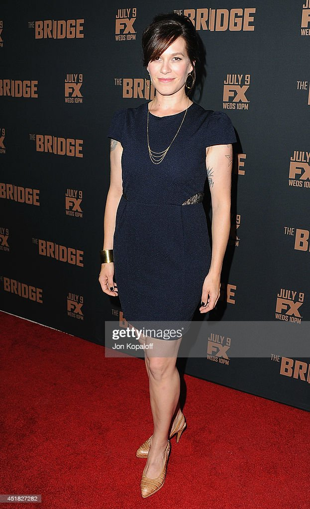 Actress Franka Potente arrives at the FX's 'The Bridge' Season 2 Premiere at Pacific Design Center on July 7, 2014 in West Hollywood, California.