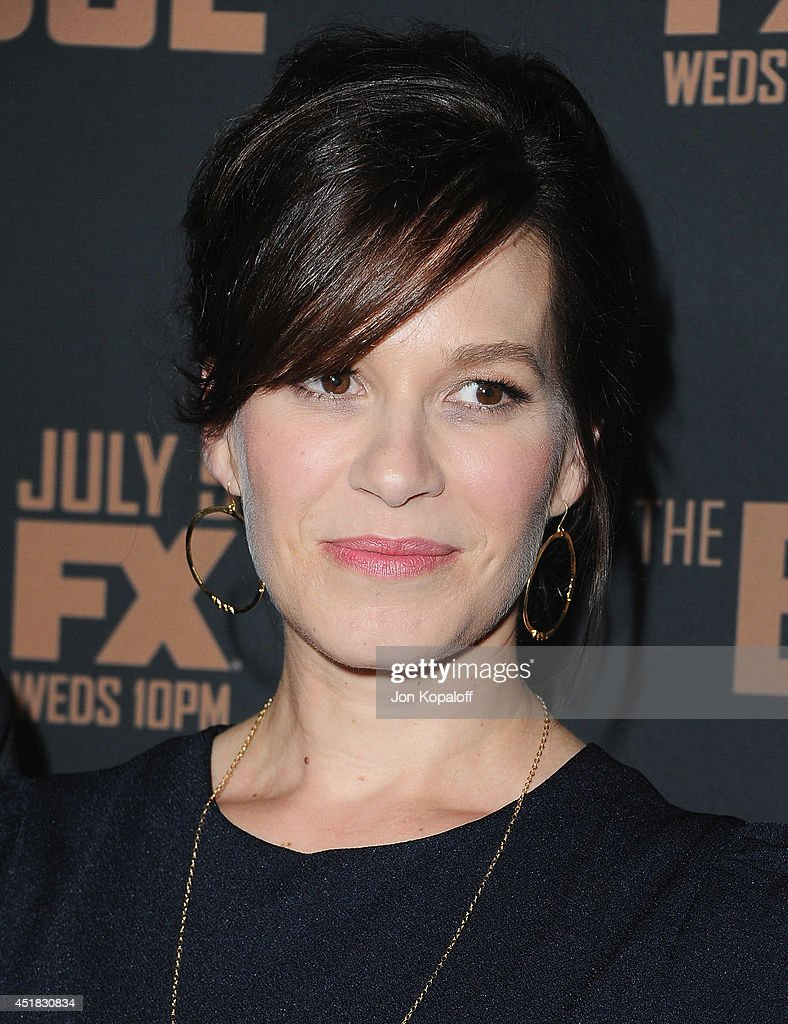 Actress <a gi-track='captionPersonalityLinkClicked' href=/galleries/search?phrase=Franka+Potente&family=editorial&specificpeople=210818 ng-click='$event.stopPropagation()'>Franka Potente</a> arrives at the FX's 'The Bridge' Season 2 Premiere at Pacific Design Center on July 7, 2014 in West Hollywood, California.