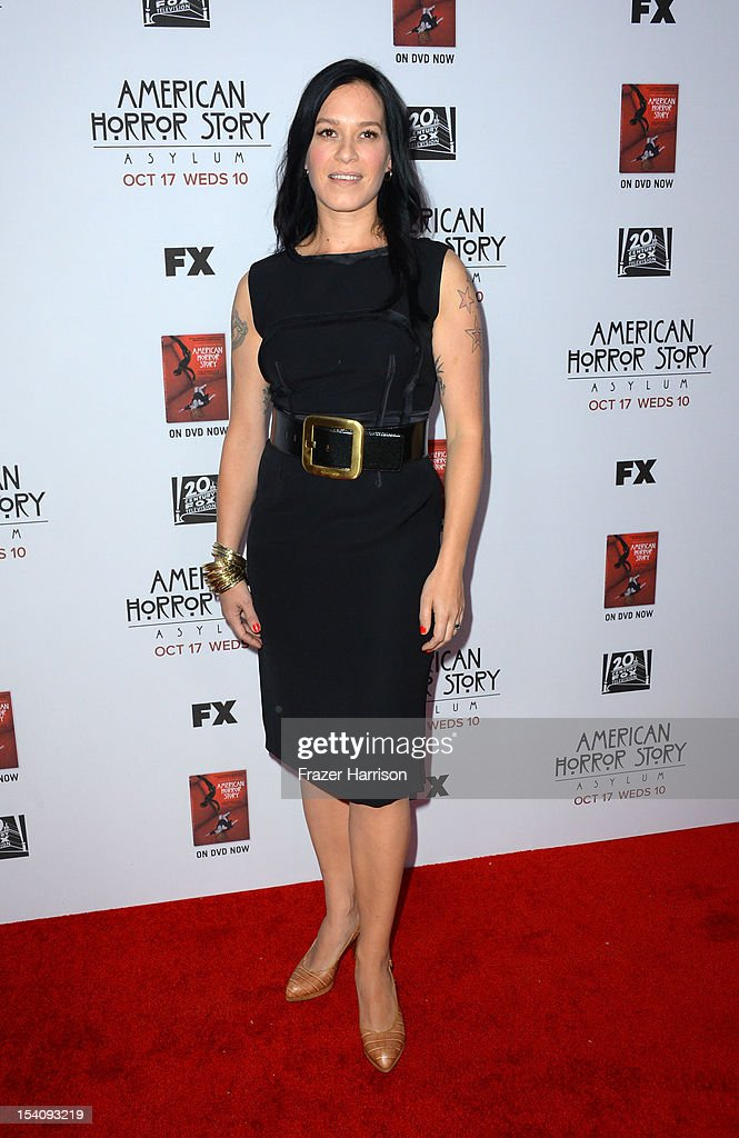 Actress Franka Potente arrives at the Premiere Screening of FX's 'American Horror Story: Asylum' at the Paramount Theatre on October 13, 2012 in Hollywood, California.