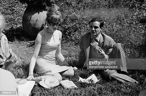 Actress Françoise Dorléac And Director François Truffaut At the Cannes Film Festival Picnic After The Presentation Of the Movie 'La Peau Douce' 'The...