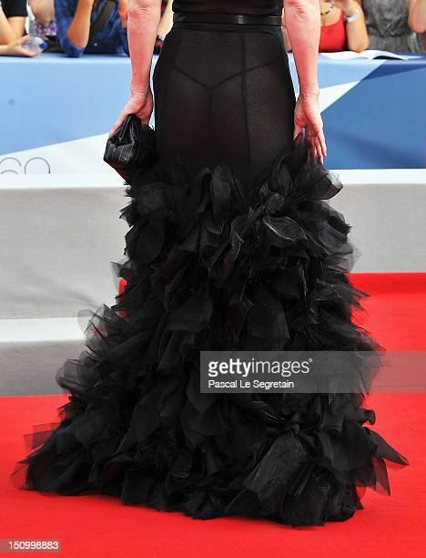 Actress Franziska Petri attends the 'Izmena' premiere during the 69th Venice Film Festival at the Palazzo del Cinema on August 30 2012 in Venice Italy