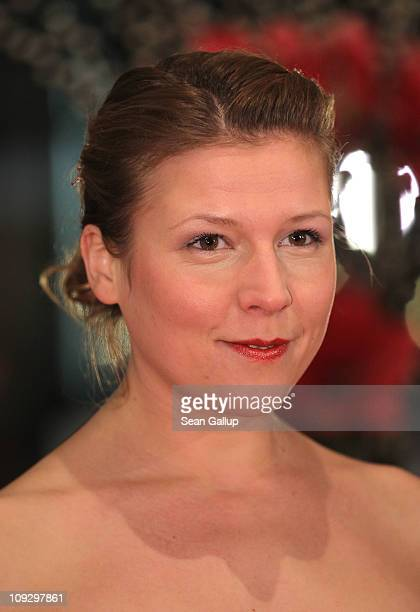 Actress Franziska Weisz attends the Award Ceremony during day ten of the 61st Berlin International Film Festival at the Berlinale Palace on February...