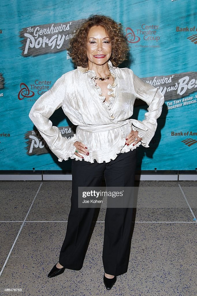 Actress <a gi-track='captionPersonalityLinkClicked' href=/galleries/search?phrase=Freda+Payne&family=editorial&specificpeople=242753 ng-click='$event.stopPropagation()'>Freda Payne</a> attends the Opening Night Of The Gershwin's 'Porgy And Bess' At The Ahmanson Theatre at Ahmanson Theatre on April 23, 2014 in Los Angeles, California.