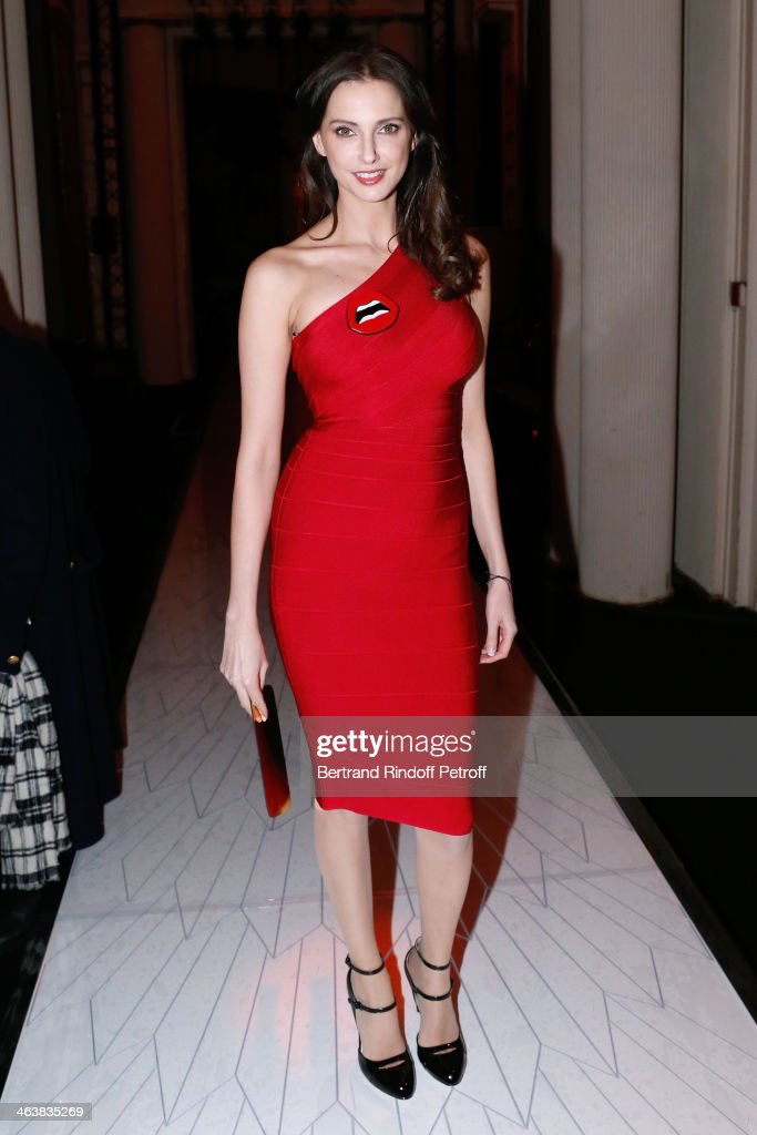 Actress <a gi-track='captionPersonalityLinkClicked' href=/galleries/search?phrase=Frederique+Bel&family=editorial&specificpeople=622597 ng-click='$event.stopPropagation()'>Frederique Bel</a> attends the Atelier Versace show as part of Paris Fashion Week Haute Couture Spring/Summer 2014 on January 19, 2014 in Paris, France.