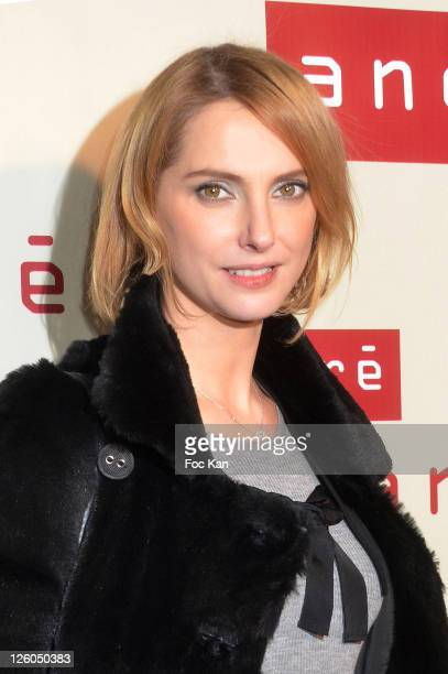 Actress Frederique Bel attends the Boutique Andre Haussmann Inauguration Cocktail on December 14 2010 in Paris France