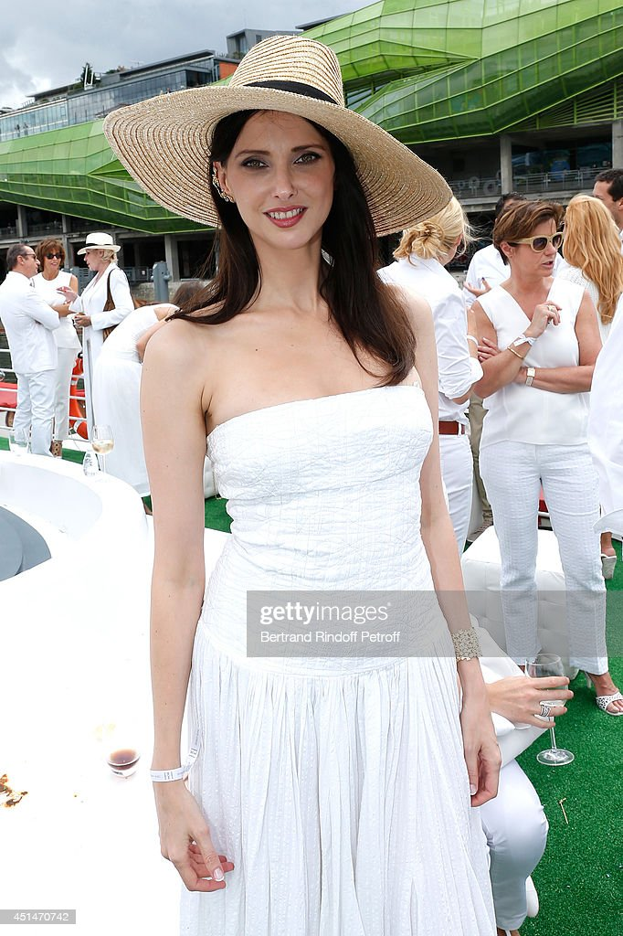 Actress <a gi-track='captionPersonalityLinkClicked' href=/galleries/search?phrase=Frederique+Bel&family=editorial&specificpeople=622597 ng-click='$event.stopPropagation()'>Frederique Bel</a> attends the 'Brunch Blanc' hosted by Barriere Group. Held on Yacht 'Excellence' on June 29, 2014 in Paris, France.