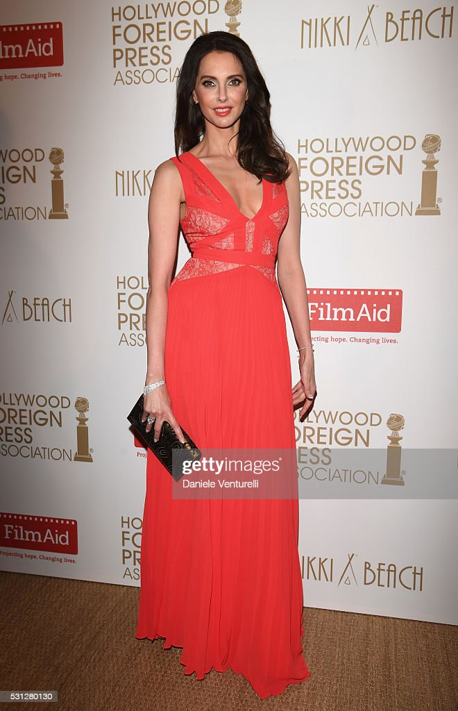 Actress <a gi-track='captionPersonalityLinkClicked' href=/galleries/search?phrase=Frederique+Bel&family=editorial&specificpeople=622597 ng-click='$event.stopPropagation()'>Frederique Bel</a> attends The Hollywood Foreign Press Association Honour Filmaid International during The 69th Annual Cannes Film Festival on May 13, 2016 in Cannes, France.