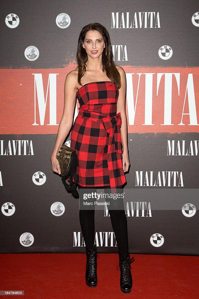 Actress Frederique Bel attends the 'Malavita' premiere on October 16, 2013 in Roissy-en-France, France.