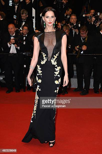 actress Frederique Bel attends the 'Maps To The Stars' premiere during the 67th Annual Cannes Film Festival on May 19 2014 in Cannes France