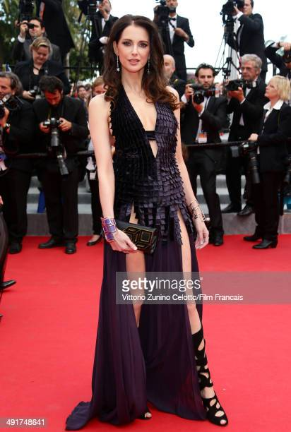 Actress Frederique Bel attends the 'Saint Laurent' Premiere at the 67th Annual Cannes Film Festival on May 17 2014 in Cannes France