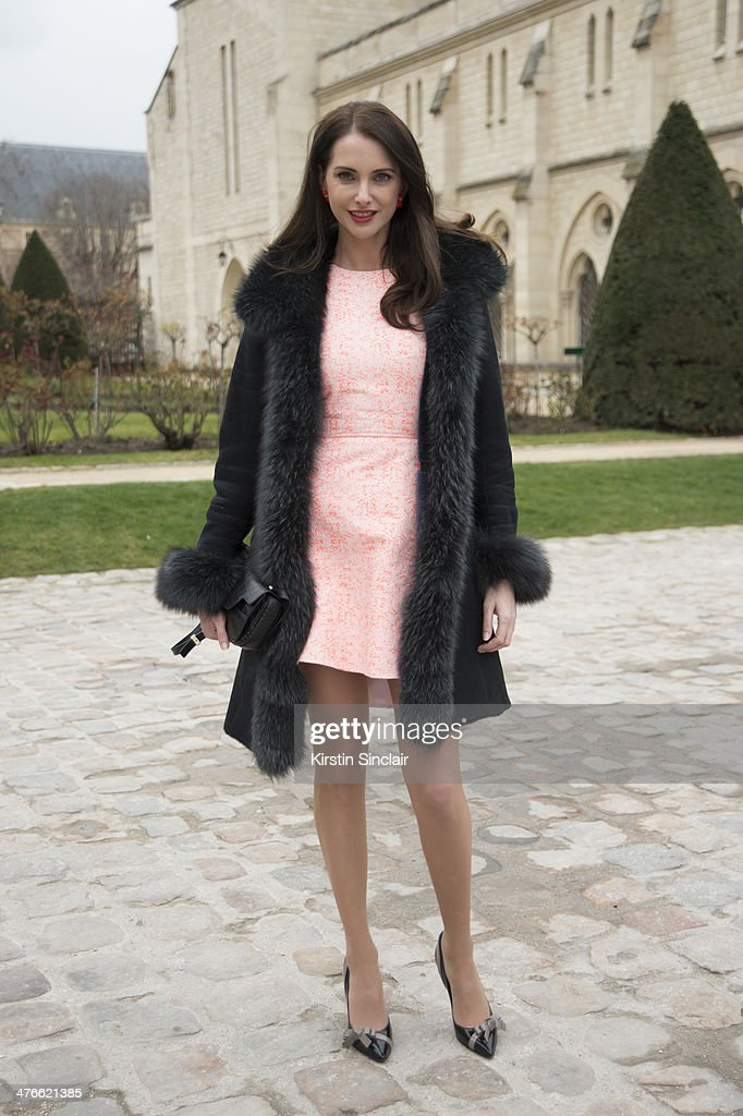Actress <a gi-track='captionPersonalityLinkClicked' href=/galleries/search?phrase=Frederique+Bel&family=editorial&specificpeople=622597 ng-click='$event.stopPropagation()'>Frederique Bel</a> wears a Lancelle bag and Paule Ka shoes on day 4 of Paris Collections: Women on February 28, 2014 in Paris, France.