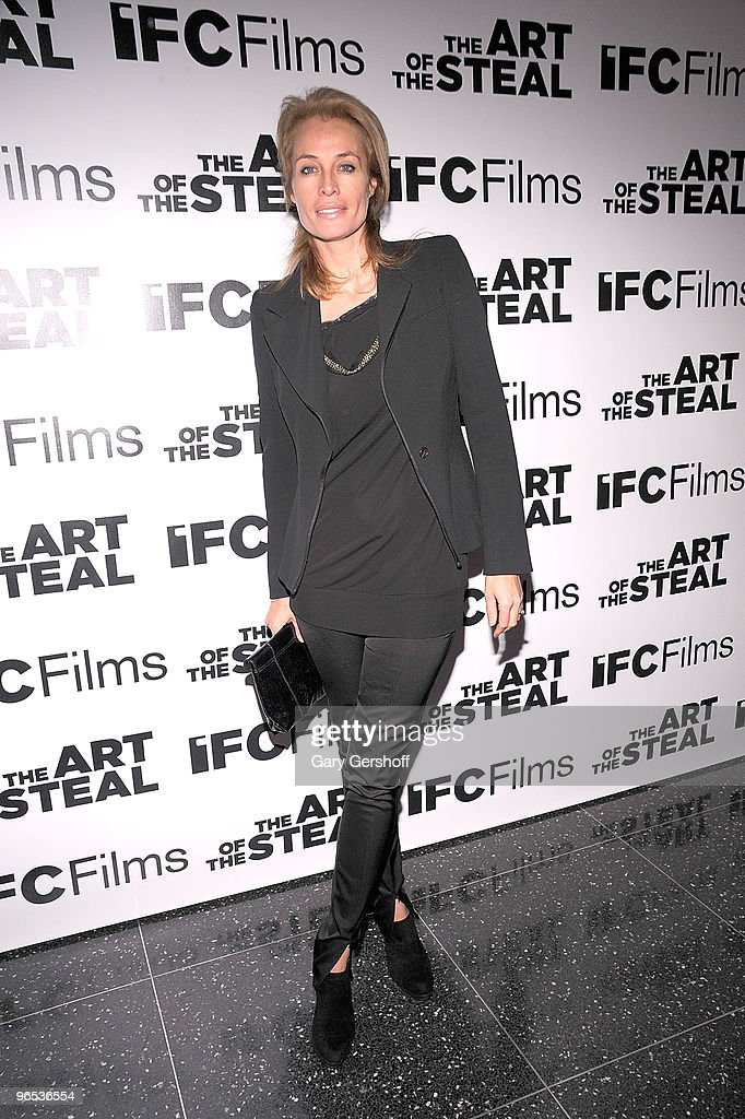 Actress Frederique Van Der Wal attends the 'The Art of The Steal' New York premiere at MOMA on February 9 2010 in New York City