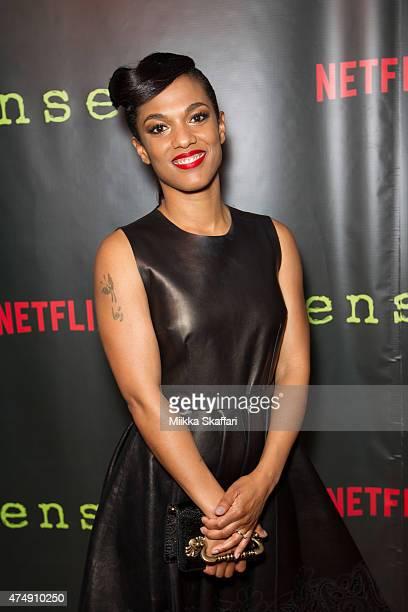Actress Freema Agyeman arrives at the Premiere of 'Sense8' at AMC Metreon 16 on May 27 2015 in San Francisco California