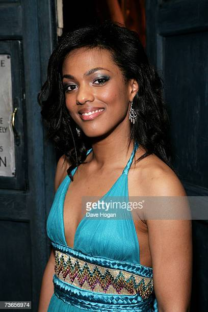 Actress Freema Agyeman attends a gala screening of 'Doctor Who' to promote the third series of the television science fiction drama at the Mayfair...