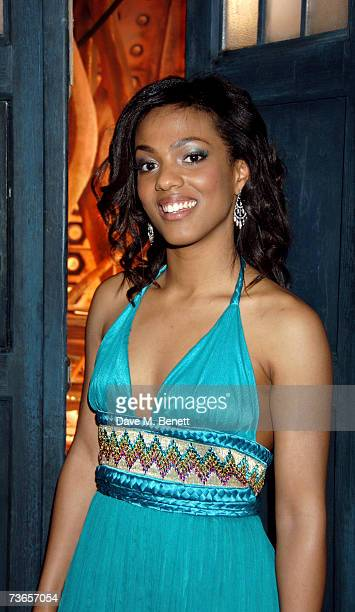 Actress Freema Agyeman attends a gala screening of television science fiction drama 'Doctor Who' to promote the third series at the Mayfair Hotel on...