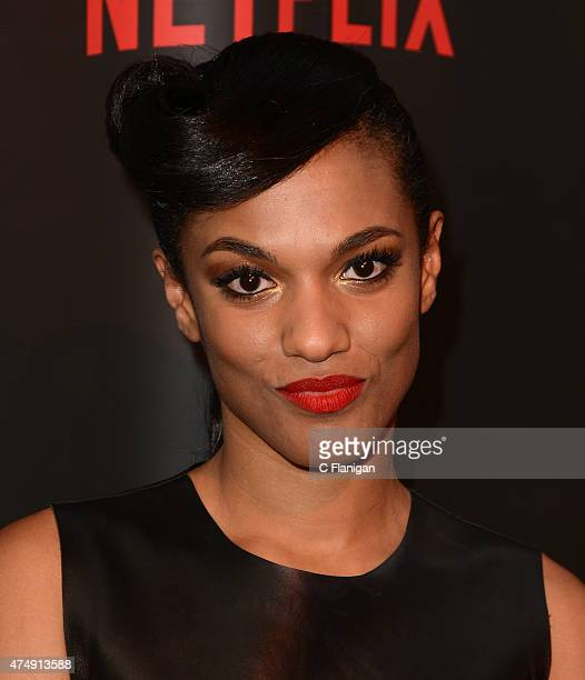 Actress Freema Agyeman attends the Premiere Of Netflix's 'Sense8' at AMC Metreon 16 on May 27 2015 in San Francisco California