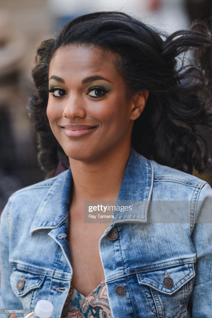 Actress <a gi-track='captionPersonalityLinkClicked' href=/galleries/search?phrase=Freema+Agyeman&family=editorial&specificpeople=3484757 ng-click='$event.stopPropagation()'>Freema Agyeman</a> enters the 'Carrie Diaries' movie set in Midtown Manhattan on August 15, 2013 in New York City.