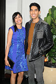 Actress Freida Pinto and actor Dev Patel attend Dom Perignon and W Magazine's celebration of The Golden Globes at Chateau Marmont on January 11 2013...