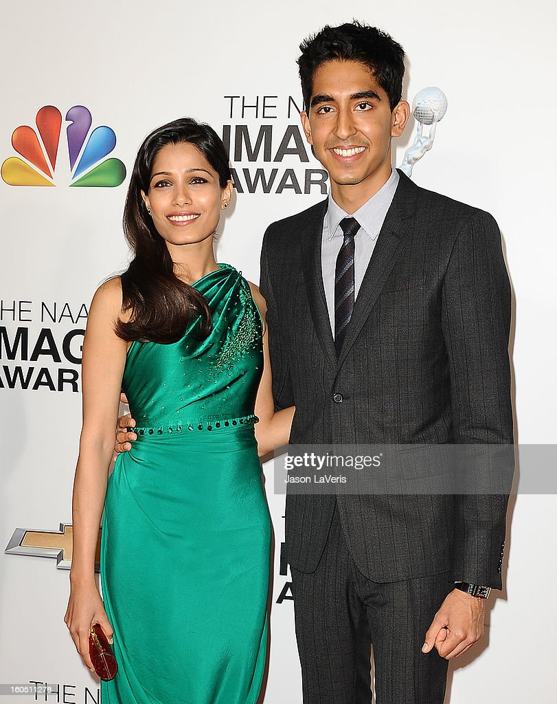 Actress Freida Pinto and actor Dev Patel attend the 44th NAACP Image Awards at The Shrine Auditorium on February 1, 2013 in Los Angeles, California.
