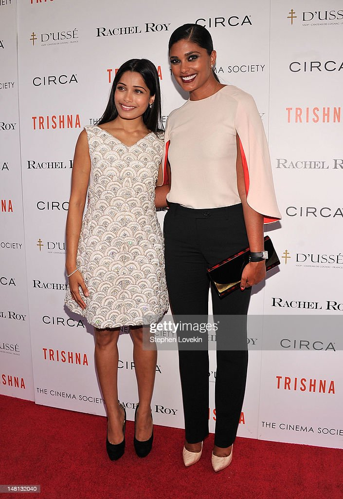 Actress <a gi-track='captionPersonalityLinkClicked' href=/galleries/search?phrase=Freida+Pinto&family=editorial&specificpeople=5518973 ng-click='$event.stopPropagation()'>Freida Pinto</a> and designer <a gi-track='captionPersonalityLinkClicked' href=/galleries/search?phrase=Rachel+Roy+-+Fashion+Designer&family=editorial&specificpeople=210895 ng-click='$event.stopPropagation()'>Rachel Roy</a> attend The Cinema Society With <a gi-track='captionPersonalityLinkClicked' href=/galleries/search?phrase=Rachel+Roy+-+Fashion+Designer&family=editorial&specificpeople=210895 ng-click='$event.stopPropagation()'>Rachel Roy</a> & Circa Host A Screening Of 'Trishna' at IFC Center on July 10, 2012 in New York City.