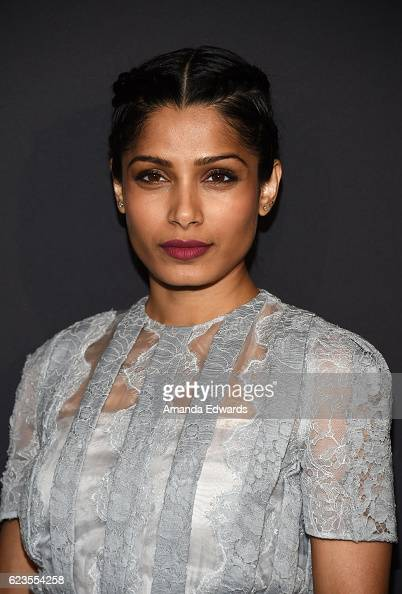 Actress Freida Pinto arrives at a screening of David O Russell's 'Past Forward' hosted by Prada at Hauser Wirth Schimmel on November 15 2016 in Los...