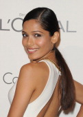 Actress Freida Pinto arrives at ELLE's 18th Annual Women in Hollywood Tribute held at the Four Seasons Hotel on October 17 2011 in Los Angeles...