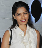 Actress Freida Pinto arrives at go90 Sneak Peek at Wallis Annenberg Center for the Performing Arts on September 24 2015 in Beverly Hills California