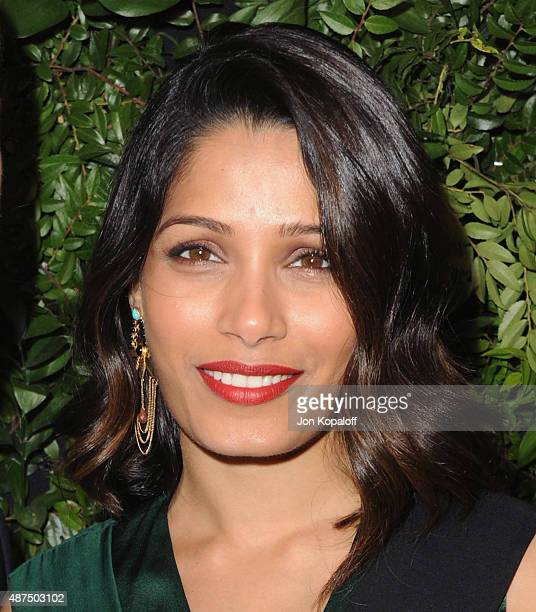 Actress Freida Pinto arrives at Salvatore Ferragamo 100th Year Celebration In Hollywood Rodeo Drive Flagship Store Opening at Salvatore Ferragamo on...