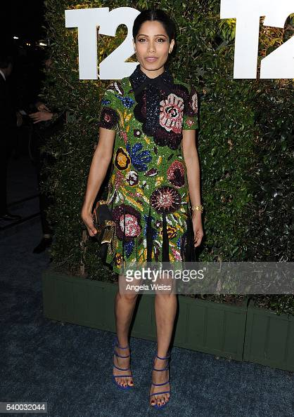 Actress Freida Pinto arrives at TakeTwo's Annual E3 Kickoff Party at Cecconi's Restaurant on June 13 2016 in Los Angeles California