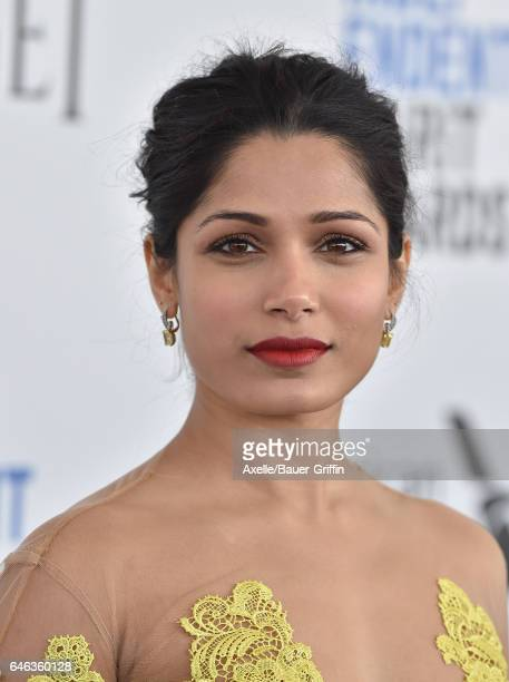 Actress Freida Pinto arrives at the 2017 Film Independent Spirit Awards on February 25 2017 in Santa Monica California
