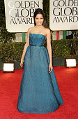 Actress Freida Pinto arrives at the 69th Annual Golden Globe Awards held at the Beverly Hilton Hotel on January 15 2012 in Beverly Hills California