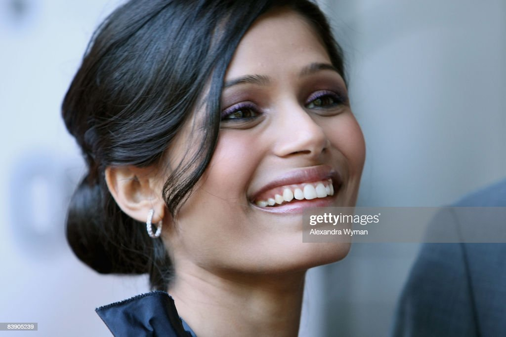 Actress Freida Pinto arrives at the premiere of 'Slumdog Millionaire' held at Flow Resturant during the 2008 Toronto International Film Festival on Septmeber 7, 2008 in Toronto, Canada.