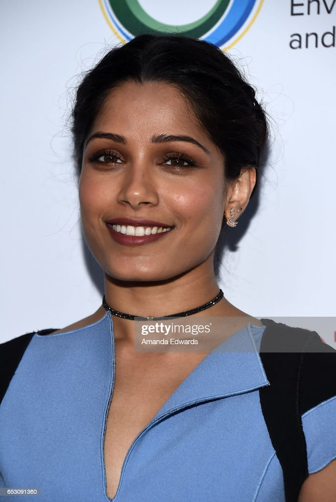 Actress Freida Pinto arrives at the UCLA Institute of the Environment and Sustainability Innovators for a Healthy Planet celebration on March 13, 2017 in Beverly Hills, California.
