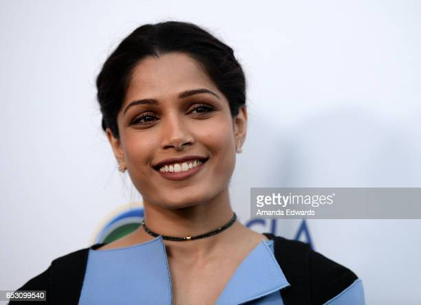 Actress Freida Pinto arrives at the UCLA Institute of the Environment and Sustainability Innovators for a Healthy Planet celebration on March 13 2017...
