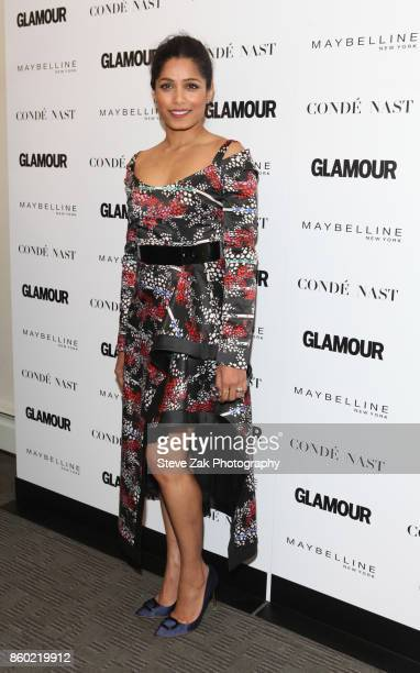 Actress Freida Pinto attends 2017 Glamour International Day Of The Girl Rally at Merkin Concert Hall on October 11 2017 in New York City