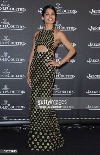 Actress Freida Pinto attends a gala dinner hosted by JaegerLeCoultre celebrating The RendezVous Collection at Giustinian Palace in Venice during the...
