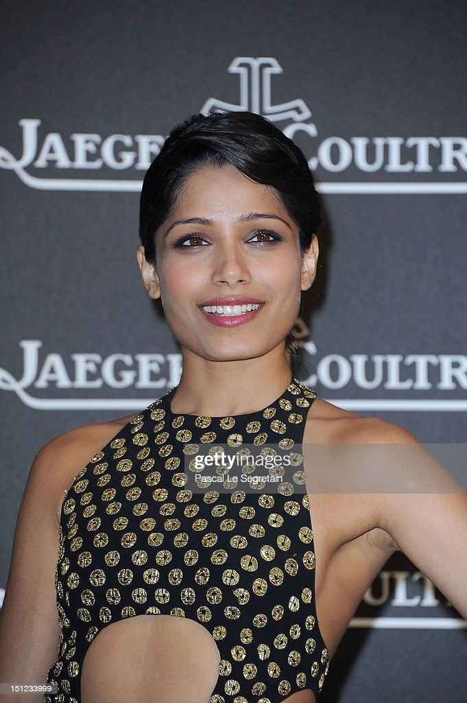 Actress Freida Pinto attends a gala dinner hosted by Jaeger-LeCoultre celebrating The Rendez-Vous Collection at Giustinian Palace in Venice during the 69th Venice Film Festival on September 4, 2012 in Venice, Italy.