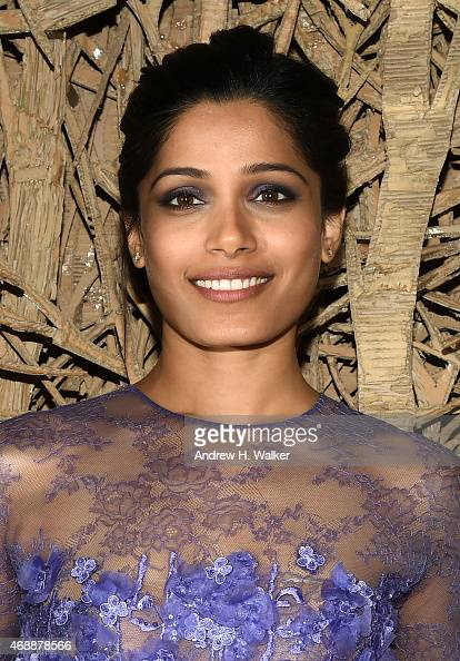 Actress Freida Pinto attends a special screening of Relativity Studio's 'Desert Dancer' after party at Baccarat Hotel on April 7 2015 in New York City