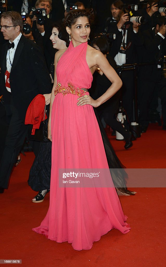 Actress Freida Pinto attends Electrolux at Opening Night of The 66th Annual Cannes Film Festival at the Theatre Lumiere on May 15, 2013 in Cannes, France.