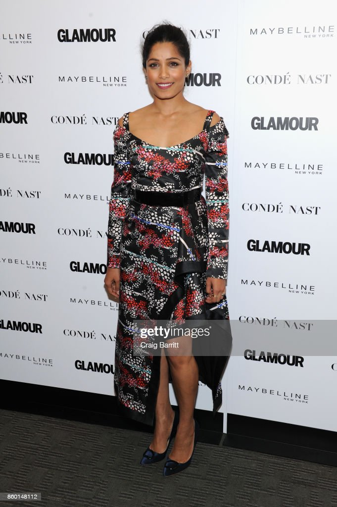 Actress Freida Pinto attends Glamour's 'The Girl Project' on the International Day of the Girl on October 11, 2017 in New York City.